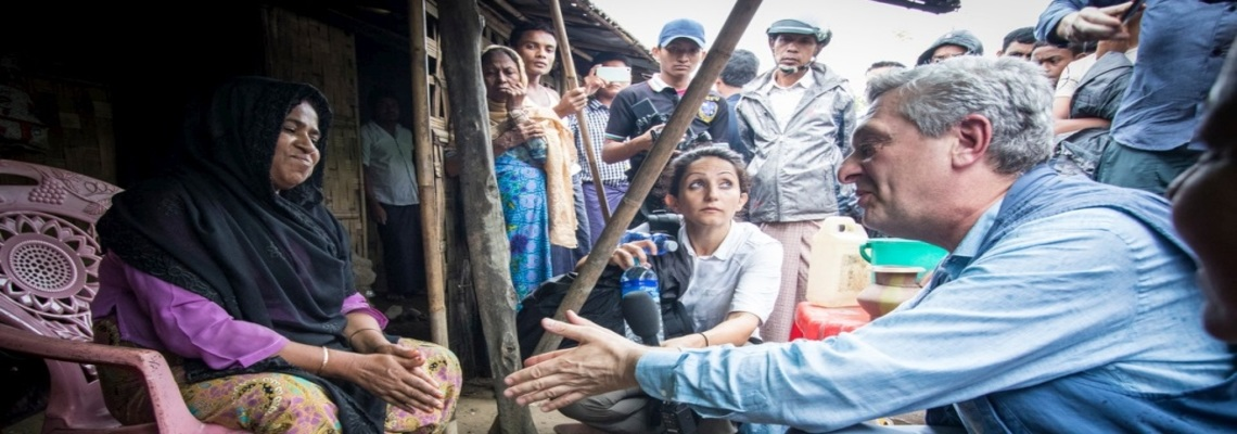 Filippo Grandi meets with communities in restive Rakhine state to better understand their needs and challenges.