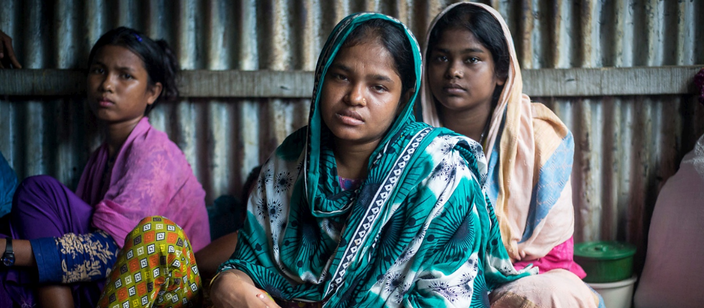 Rashida Begum, 23, lost her baby in a shipwreck after fleeing Myanmar. She receives counselling at Kutupalong refugee camp in Bangladesh. © UNHCR/Roger Arnold