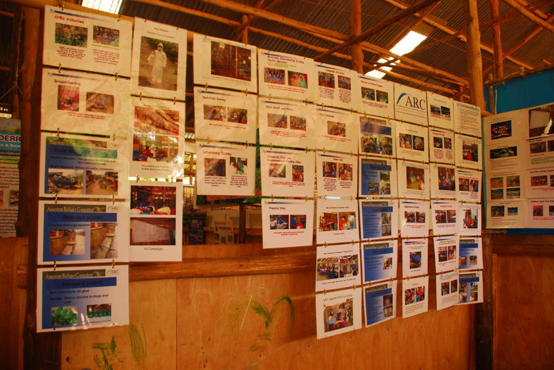 Exhibition about health issues in the camp by American Refugee Committee International (ARC)