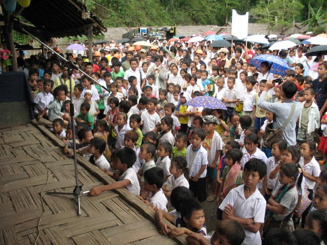 Refugee children enjoy the World Refugee Day event on 15 June in Ban Mai Nai Soi camp.