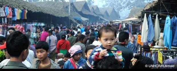 จำนวนผู้ลี้ภัยในประเทศไทย