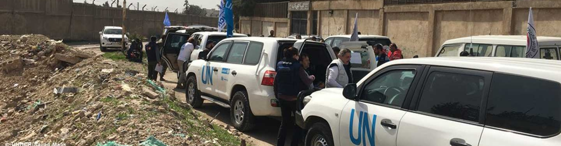 The UN and partners deliver humanitarian assistance to eastern Ghouta Damascus.