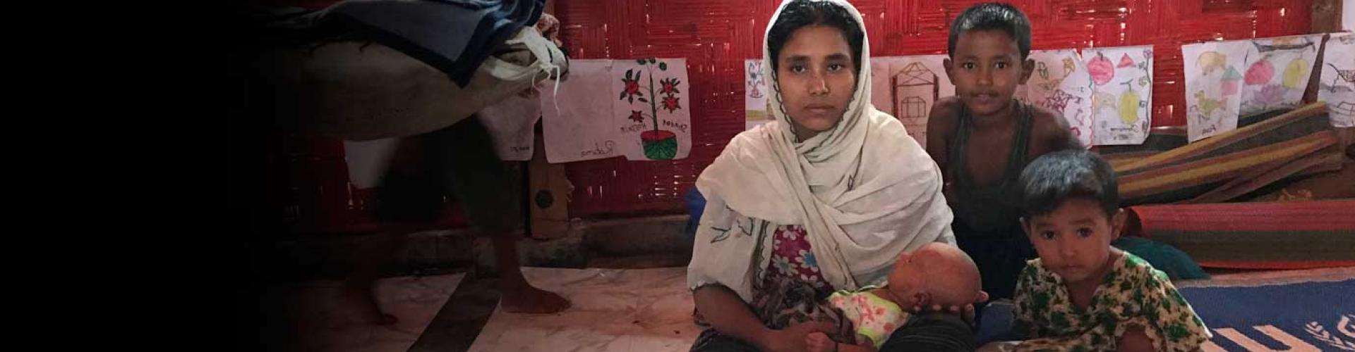 Monsoon rains batter Bangladesh Rohingya refugee settlements.