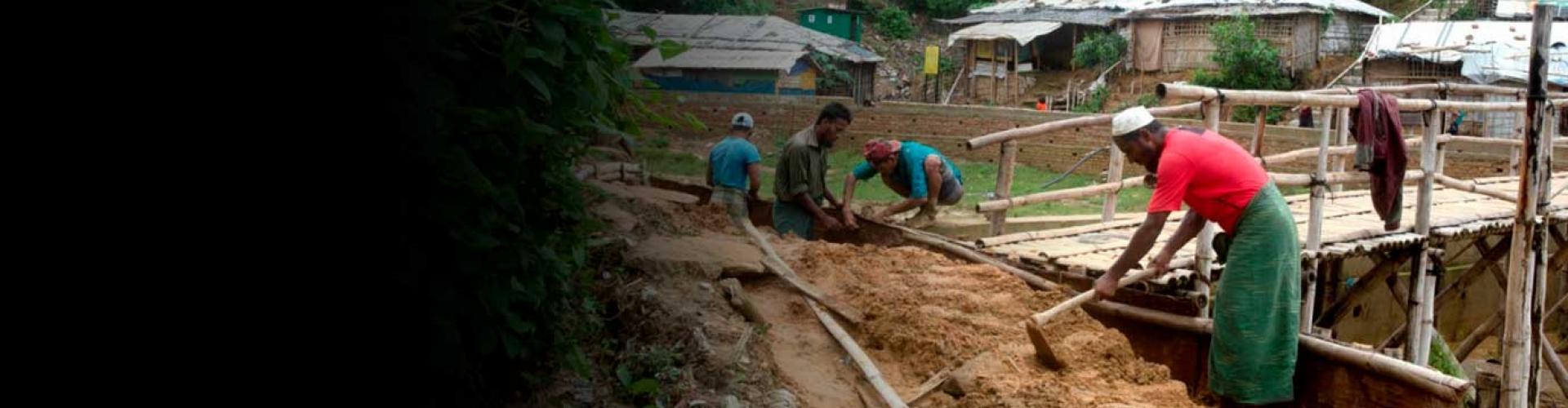 ฝนตกหนักและมรสุมเข้าปะทะค่ายผู้ลี้ภัยชาวโรฮิงญา ในประเทศบังคลาเทศ