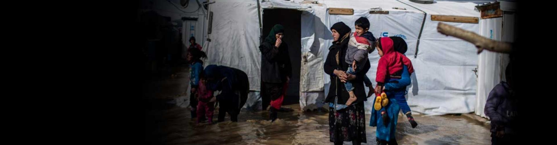 พายุและน้ำท่วมรุนแรงทำให้ผู้ลี้ภัยชาวซีเรียในประเทศเลบานอนตกอยู่ในความยากลำบาก