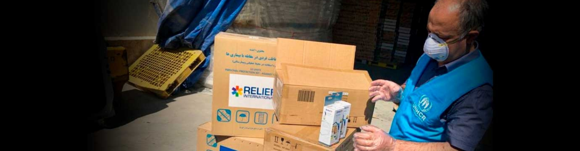 UNHCR's airlift with vital medical aid lands in Iran.