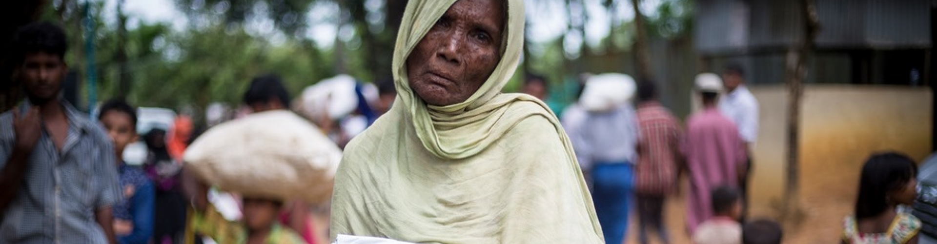Moving refugees out of the rain in Bangladesh