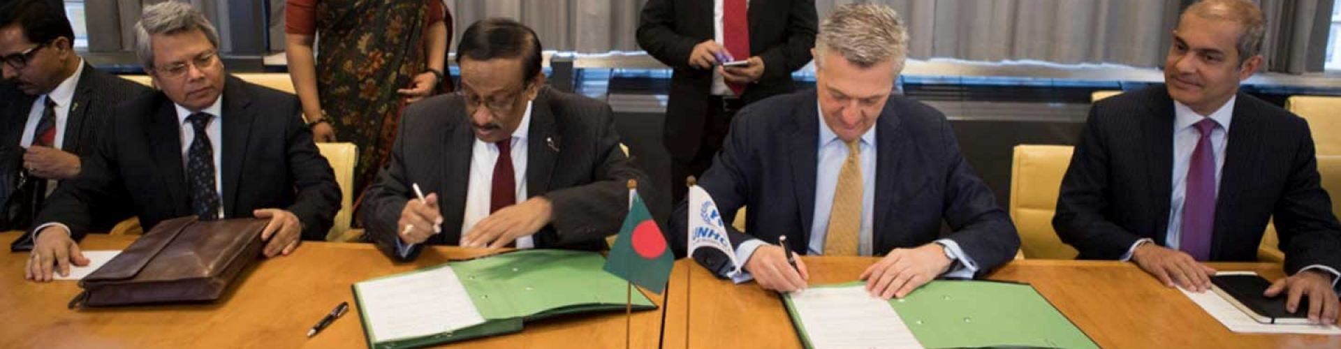 Bangladesh and UNHCR agree on voluntary returns framework for when refugees decide conditions are right.