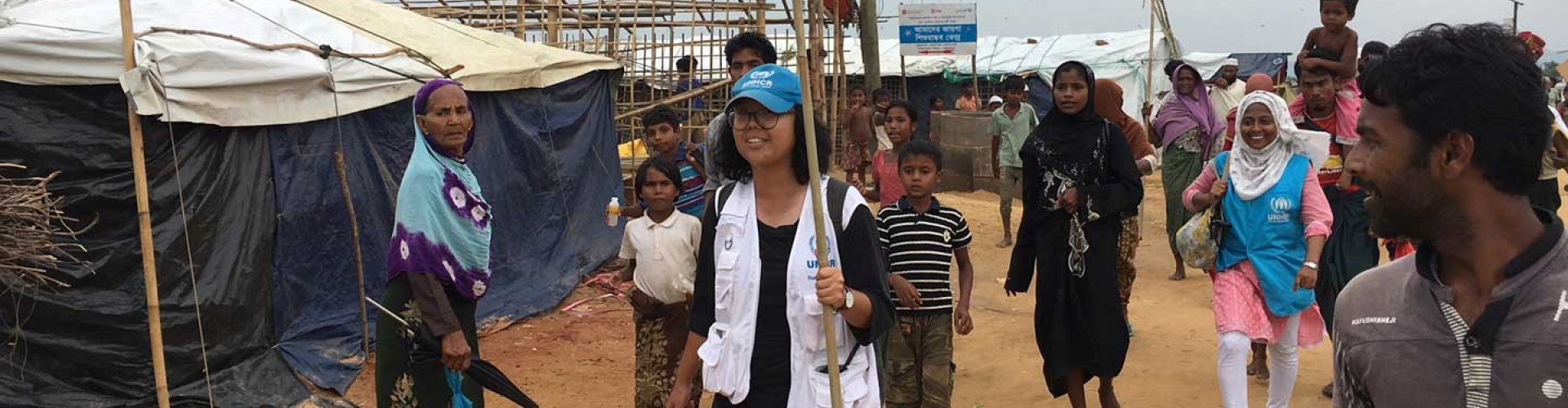 UNHCR Thai staff are on the field in the fastest growing refugee crisis in Bangladesh.