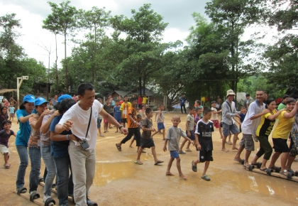 Refugees, NGOs and UNHCR have enjoyed our play day on World Refugee Day in Tham Hin camp.