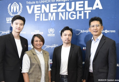 UNHCR, Praya Lundberg and media partners debut documentaries and take part in a special talk on the Venezuela refugee and migrant crisis  ©UNHCR/Somkiat Jaraspat