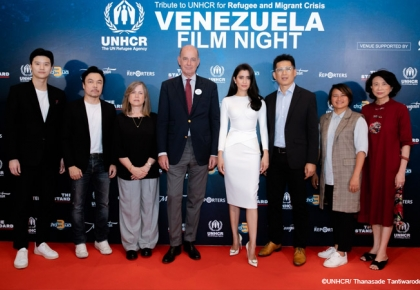 UNHCR, Praya Lundberg and media partners debut documentaries and take part in a special talk on the Venezuela refugee and migrant crisis  ©UNHCR/Thanasade Tantiwarodom