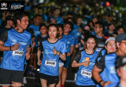 "UNHCR ""2 BILLION KILOMETRES TO SAFETY"" CHARITY RUN ©UNHCR/Chalinee Thirasupa"