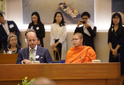 "Bangkok – UNHCR Thailand held a special event to celebrate Venerable Vudhijaya Vajiramedhi on the occasion of his appointment as ""UNHCR Patron for Peace and Compassion"" ©UNHCR/Songpol Chuapracha"