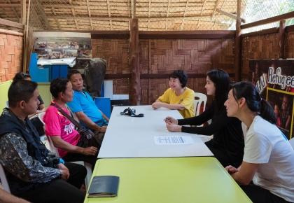 Pu Praya Lundberg visited Ban Don Yang refugee camp #prayalundberg
