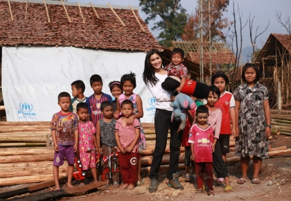 Praya Lundberg's Camp visit Refugee camps, Tak province on 19-20 March 2019 ©UNHCR/Kosit Jitpiroj