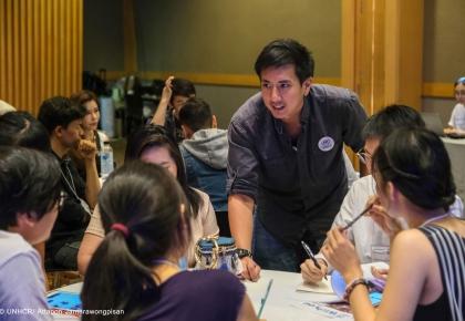 กิจกรรม Documentary and Story Telling Workshop by Wannasingh Prasertkul แคมเปญ Namjai for Refugees ระดมทุนมอบปัจจัยสี่ให้ครอบครัวผู้ลี้ภัยทั่วโลก วันที่ 19 มกราคม 2562 ที่หอศิลปวัฒนธรรมแห่งกรุงเทพมหานคร (BACC) © UNHCR/ Attapon Jantarawongpisan