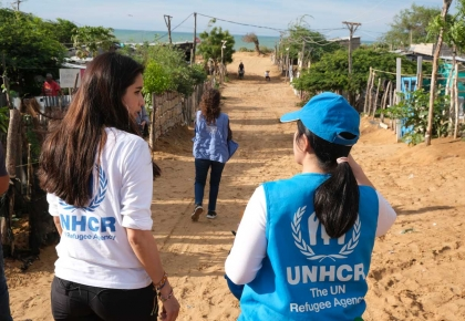 Praya Lundberg and media partners visited Colombia borders in Venezuela crisis. ©UNHCR