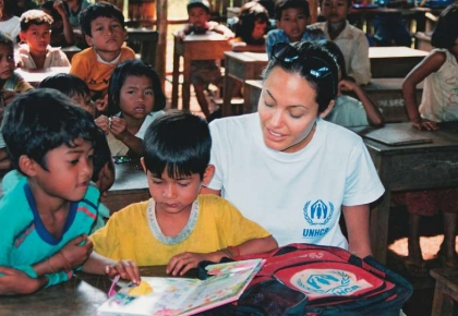 แองเจลิน่า โจลี่ ทูตสันถวไมตรี ผู้ลี้ภัย UNHCR
