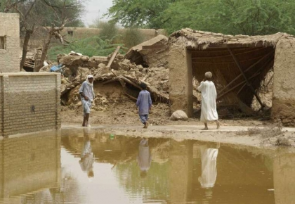 The ruins of homes destroyed in the worst flooding Pakistan has seen in decades,