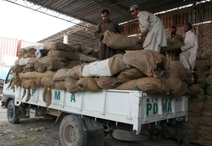 Transporting relief items to the affected areas is extremely difficult as flood