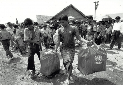 Thailand was the country of first asylum for over 1.3 million refugees from Cambodia, Laos and Vietnam in 1975. The Thai governm