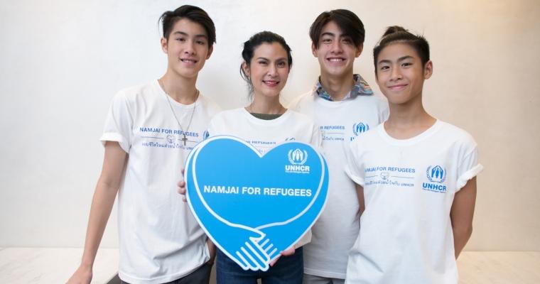 ครอบครัววรรธนะสิน ผู้สนับสนุนที่มีชื่อเสียงของ UNHCR กับภารกิจระดมทุนเพื่อผู้ลี้ภัยในแคมเปญ Namjai for Refugees