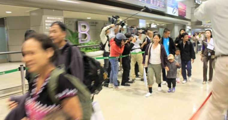 กลุ่มผู้ลี้ภัยจากประเทศพม่ากลุ่มแรกได้เดินทางถึงประเทศญี่ปุ่นแล้ว