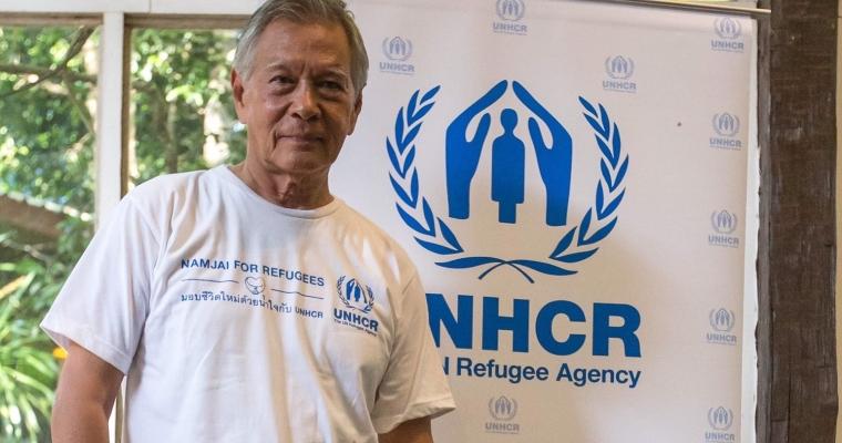 ผู้สนับสนุนที่มีชื่อเสียงของ UNHCR  ในแคมเปญ Namjai for Refugees