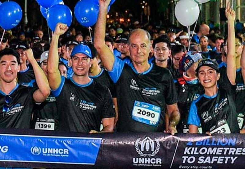"UNHCR ""2 BILLION KILOMETRES TO SAFETY"" CHARITY RUN"