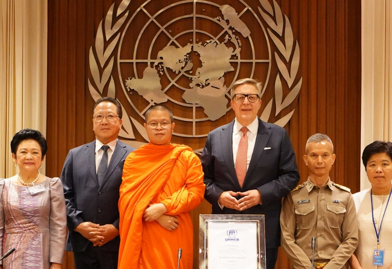 Venerable Vudhijaya Vajiramedhi was appointed as one of the first two UNHCR Patrons