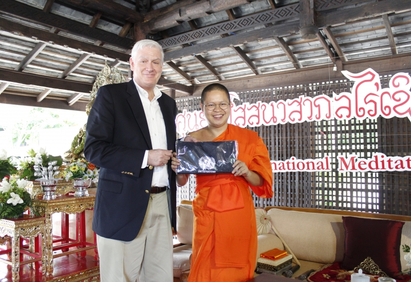 "Mr. James Lynch UNHCR's Regional Representative's visit to ""Mahavijjalaya of Buddhist Economics"", Cherntawan Internatonal Meditation Center"