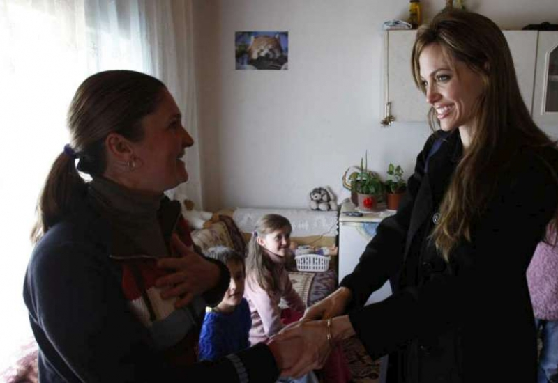 Angelina Jolie visits Refugee Returnee in Bosnia