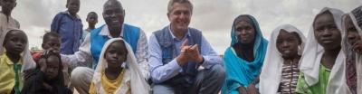 ข้าหลวงใหญ่ผู้ลี้ภัยแห่งสหประชาชาติ นายฟิลิปโป กรันดี เข้าเยี่ยมผู้ลี้ภัยจากซูดานใต้อัลนามีร์ ดาร์ฟูร์ตะวันออก, ประเทศซูดาน