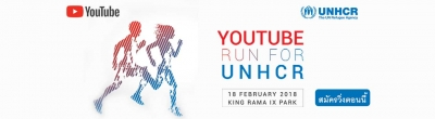 The fundraising running event supports UNHCR works by YouTube Thailand.