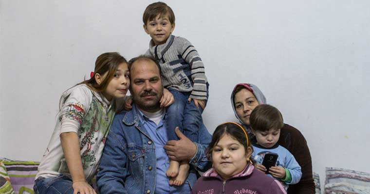 Omar's family found refuge in Lebanon, but no medication for his rare hormone condition. © UNHCR/Ivor Prickett