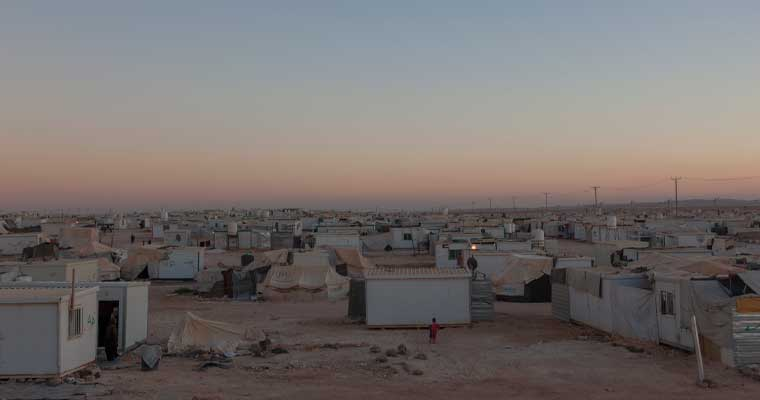 A file photo of Za'atari refugee camp from 2015. © UNHCR/Christopher Herwig